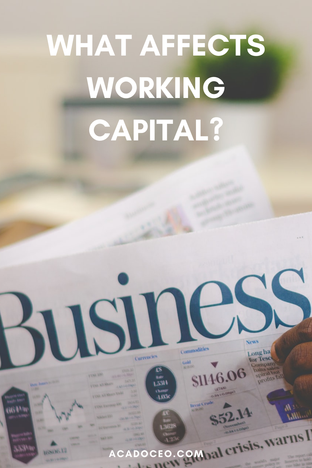 WHAT AFFECTS WORKING CAPITAL?